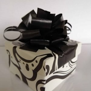 12 Black and white Choc box