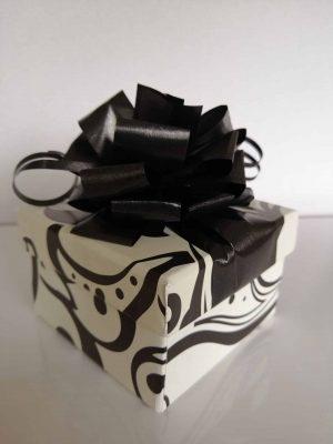 12 Black and white Choc box