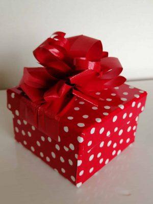 Red Polka Dot Box 12 Chocolates
