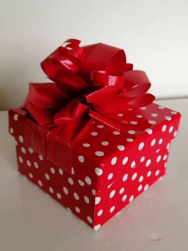 Red Polka Dot Box 12 Chocolates
