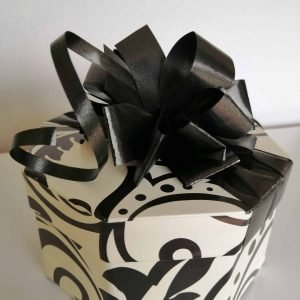 20 Black and white choc box