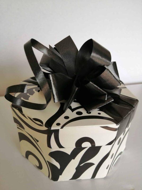 20 Black and white choc box