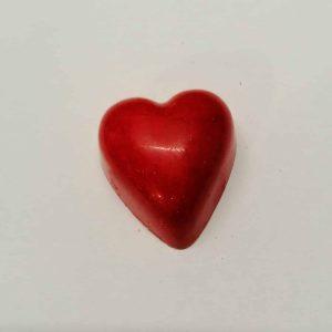 White praline heart